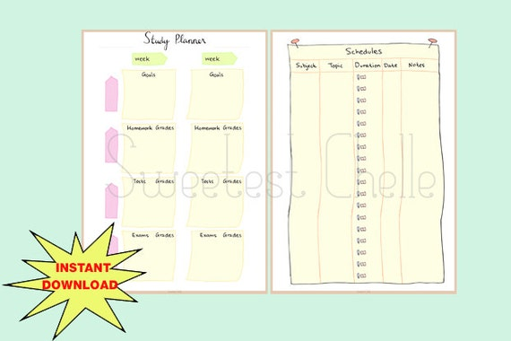 il_570xN.765735011_hobu Weekly Homework Planner Pages on scrapbook planner pages, do it yourself planner pages, weekly work planner pages, student planner pages, weekly schedule planner pages, printable planner pages,