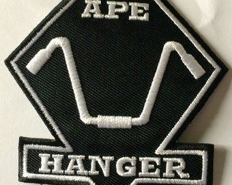 APE Hanger Biker   3 x 2.5 inch patch iron on or sew on