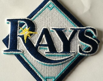 Tampa Bay Rays 3.5 x 2.5 inch patch iron on or sew on