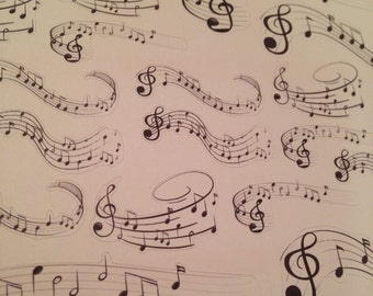Music notes treble clef stickers -  for your EC, PP, planner