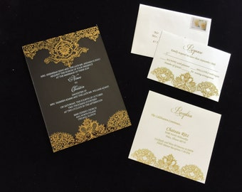 acrylic wedding invitations acrylic invitation etsy 1208