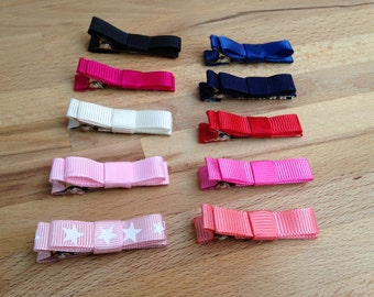 Set if Two Hair Clips - Hair Accessories - Baby Hair Clips - Bow Hair Clips - Tuxedo Bow Hair Clips - Toddler Hair Clips