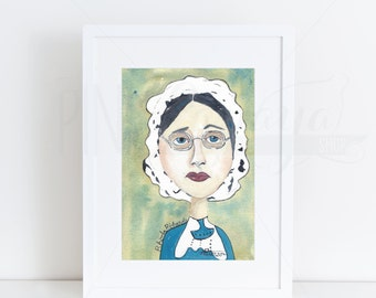 The Forgotten Wives of Joseph Smith | Individual 5x7 Watercolor Portraits