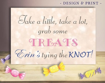 Bridal Shower Dessert Table Sign. Customizable printed sign, mounting available.