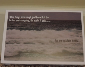 Rough Seas of Encouragement 5x7 Greeting Card