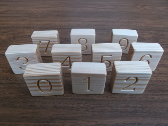 wooden number blocks counting blocks educational by. Black Bedroom Furniture Sets. Home Design Ideas