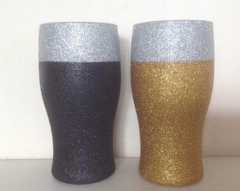Glitter pint glass