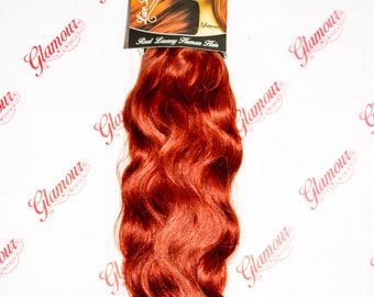 """Real Hair Extensions 18""""  Full Head Clip In, various shades a choice of Wavy or Straight"""