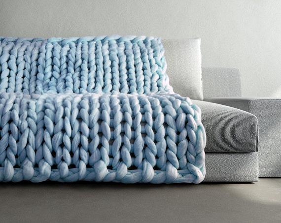 grande punto super klobige gro e decke chunky knit von ohhio. Black Bedroom Furniture Sets. Home Design Ideas