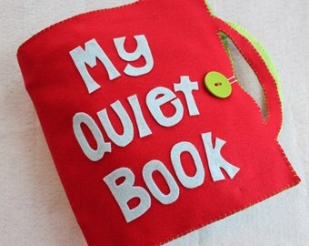 Custom Quiet Book - Large Personalized Book - You Pick Pages and Colors!  Cover is FREE with Purchase of 4 Pages!