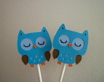 Super Cute Owl Cupcake Toppers (12)