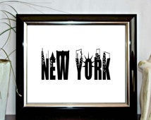 Instant Download - New York Printable Wall Decor -  Art Decor Poster