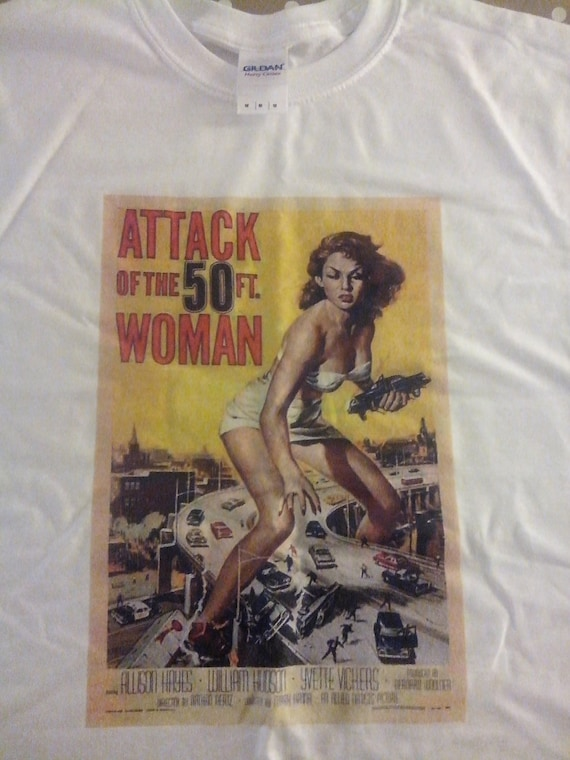 Attack of the 50ft woman film poster t shirt by dontgetshirty for Attack of the 50 foot woman t shirt