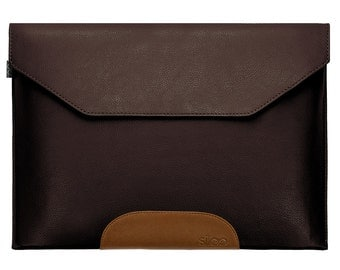 Laptop Sleeve Leather Brown Bag Cover Case f. Macbook Air / Pro / Retina etc.