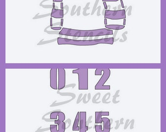 Hockey Jersey with Numbers Stencil  (2 separate stencils)