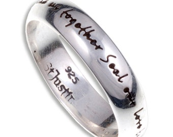 925 Sterling Silver Men Women Wedding Engagement Love Ring One Ring to Bind us- 5mm Width