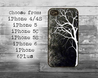 Black white tree art phone cover - iPhone 4/4S, iPhone 5/5S/5C, iPhone 6/6+, iPhone 6s/6s Plus case -mistery tree iPhone case