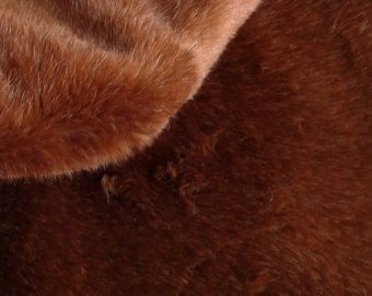Imported plush fat1/2 yard cinnamon color