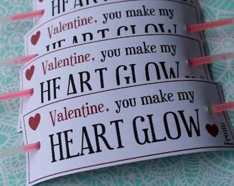 PDF Glowstick Valentine