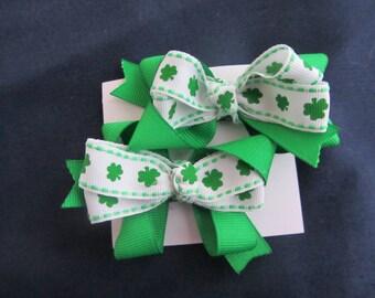 St Patrick's Day barettes