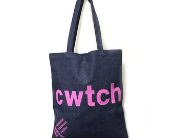 Denim bag - Cwtch