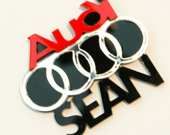Personalised Audi keychain.
