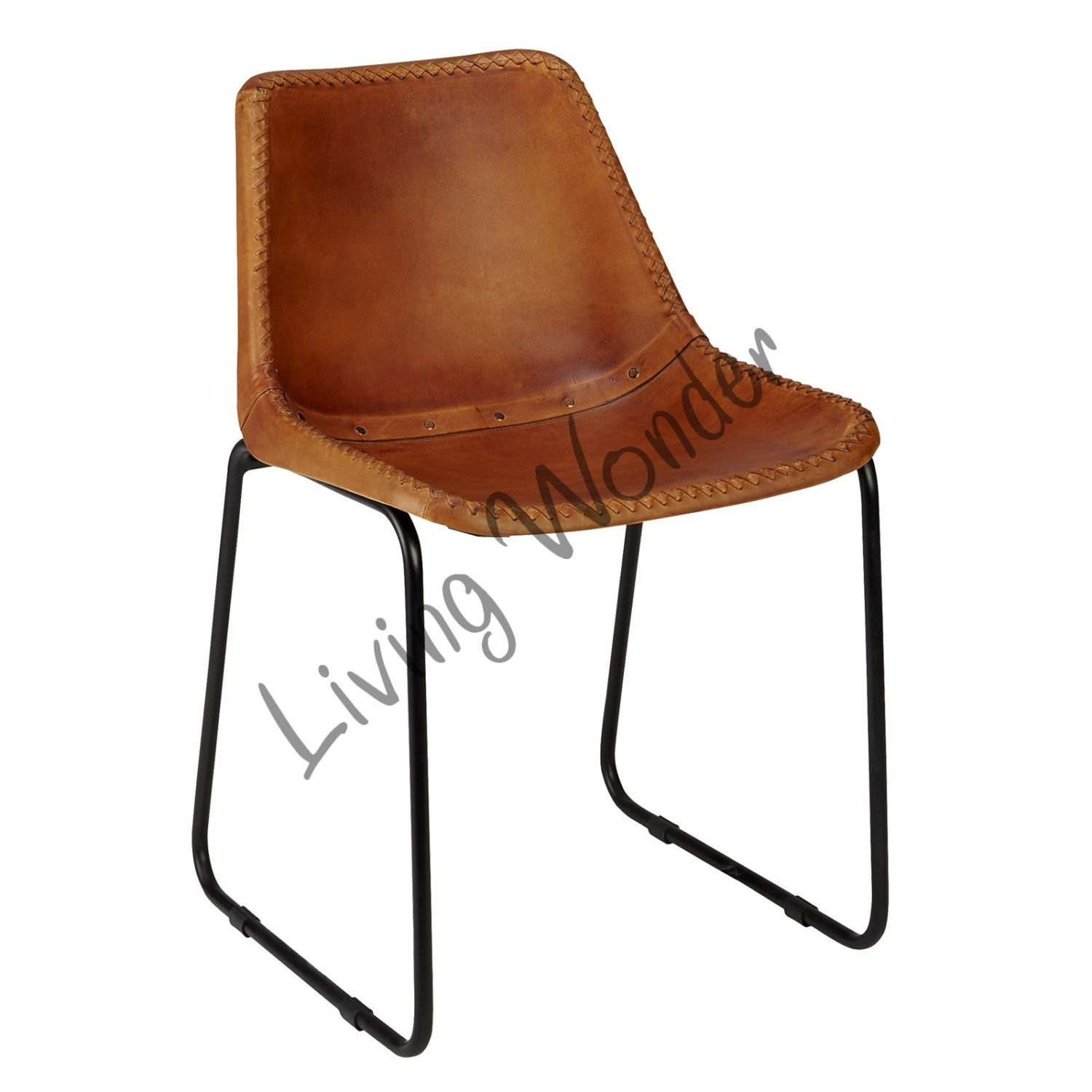 Vintage Look Leather Dining Chair Leather Office By LivingWonder