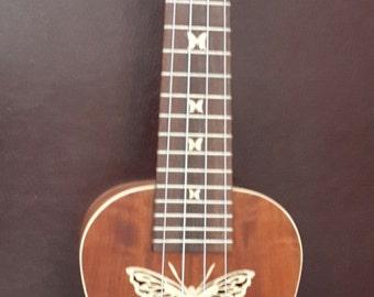 Great sound custom Thai woods handmade ukulele.Concert Size.