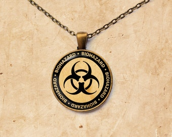 Nuclear pendant Sign jewelry Radioactive necklace