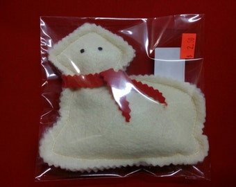 Butter lamb dog toy with squeaker