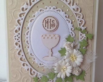 Handmade First Holy Communion Card