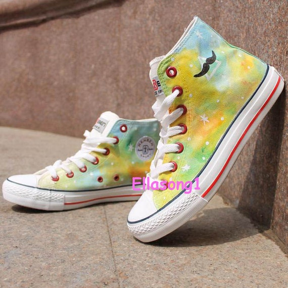 painted galaxy canvas shoes casual painted gradient