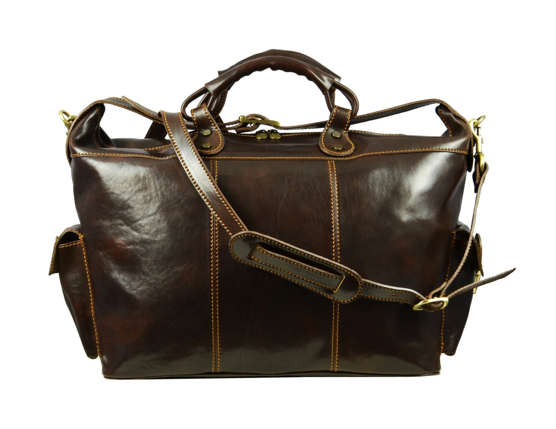 Leather duffel bag Leather travel bag weekender bag