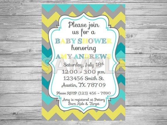 and blue baby shower invitation printable grey yellow and blue baby