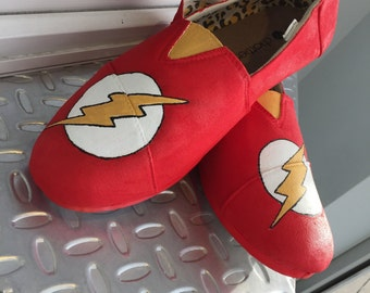 """Hand Painted """"The Flash"""" Shoes"""