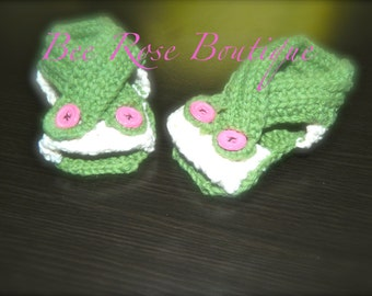 knitted baby sandals / booties ANY COLOR