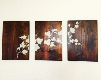 3 Piece Wall Art- Floral Design