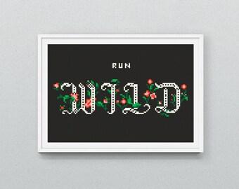 Run Wild Cross Stitch Pattern PDF