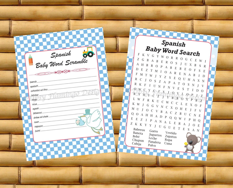 Juegos Para Baby Shower-Printable Baby Shower Games in ...