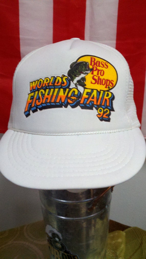 90 39 s bass pro shops 92 world 39 s fishing fair snapback for Bass pro shop fishing line