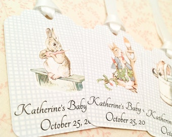 Baby Shower Peter Rabbit Thank You Shower Tags-It's a Boy Shower Tags-Set of 12