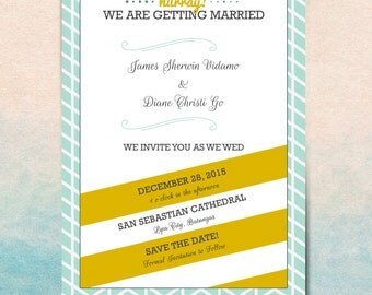 Chic Save the Date Card Template