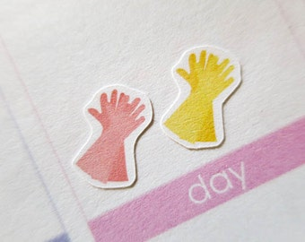 60 glove Stickers  | Planner Stickers designed for use with the Erin Condren Life Planner | 0055
