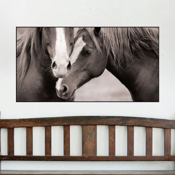 Horse wall mural decal horse wall art horse adhesive horse for Equestrian wall mural
