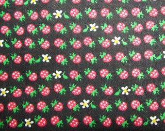 Black Strawberry - Polycotton Fabric