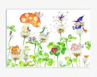 Ladybug Story Art Print