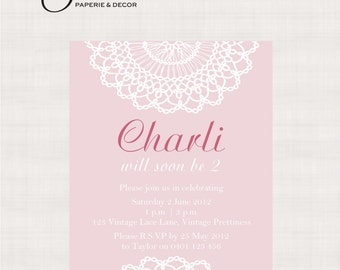Vintage Lace Collection Printable Invitation