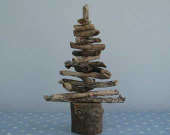 1ft round base driftwood christmas tree