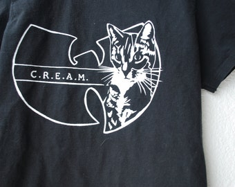 mens C.R.E.A.M. Cats Rule Everything Around Me mens screen printed tee TEMPORARY PRICE REDUCTION 18->15