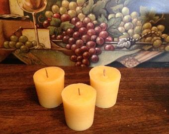 12 Piece Set - Beeswax Votive Candles